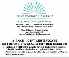 3-PACK 60 Minute Crystal Light Bed Session GIFT CERTIFICATE INCLUDES BONUS 2FOR1