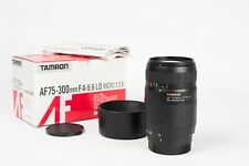 Tamron AF 75-300mm f/4-5.6 LD Macro (1:3,9) for Minolta-AF and Sony a-mount.