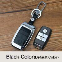 Zine-alloy Metallic Remote Key Fob Shell Leather Button Case For Kia Sorento 15