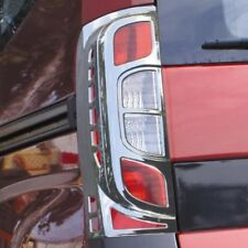 Chrome Rear Tail Light Surrounds Trim Covers Set To Fit Peugeot Bipper (2008+)