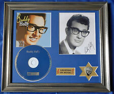 Buddy Holly ST Genuine CD, Autograph & Plectrum Presentation
