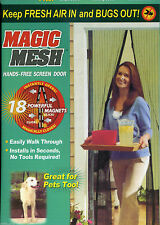 Curtain Door Magic Mesh Magnetic Fastening Hands  Fly Bug Insect  Magic Screen