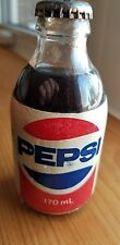 Vintage Old Pepsi Cola Full Unopened Bottle 10 oz with foam label made in Canada