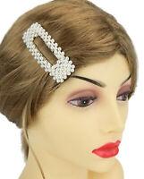 Ella Jonte große Haarklemme Perlen weiß silber Haarklammer Haarspange Trend neu