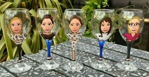 hand painted personalised birthday wine gift glass 18th 21st 30th 40th 50th 60th