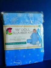 "Brand New Daisy Kingdom 18"" Doll Slumber Kit-Include Nighty,Blanket,Pillow,Dog #2"