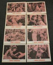 Greta Garbo Anna Karenina R 62 Lobby Card Set of Eight (8) MGM Theater Display
