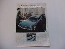 1973 Oldsmobile Cutlass VISTA CRUISER Station Wagon--LARGE vintage 73 Olds ad