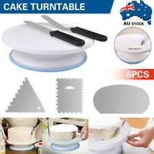 Cake Decorating Tool Rotating Turntable Baking Stand Cream Icing Spatula Scraper