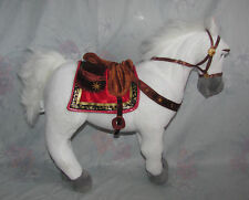 """Disney Store Plush Horse Maximus From Tangled - White, Poseable Legs - 14"""" Tall"""