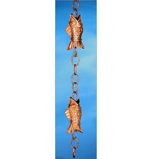 Good Directions Fish Rain Chain - Polished Copper 487P-6