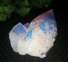308g  Angel Aura Quartz Crystal Titanium Bismuth Silicon Cluster Rainbow