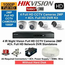 Hikvision Full HD 4 CCTV Cameras(2MP) with 4Ch. Full HD DVR Combo  Kit
