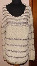 Costa Blanca Beige Bronze sequin scoop neck  Sweater  M