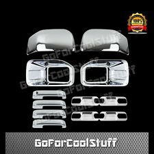 15-16 FORD F150 Fog Lamp 2 Mirror 4 Door Handle 4 Back Plate/Bowls Chrome Cover