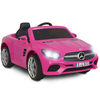 12V Electric Kids Ride On Toy Cars Benz SL500 6 Speeds w/ Remote Control Pink
