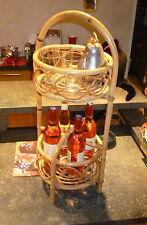 Mini Bar Rotin de Salon Terrasse Piscine Véranda à Service Aperitif Orangeade