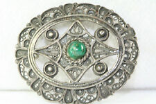 ANTIQUE ISRAEL STERLING SILVER EILAT FILIGREE PIN PENDANT