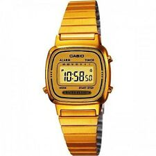 Casio Women's Digital Gold Plated LA670WGA-9DF with Alarm Water Resist Watch