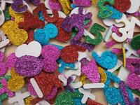 glitter foam number stickers**bright colours** 25gms