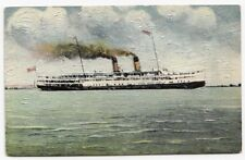Canada Steamship Lines Steamer CAYUGA Ontario 1920-30s Novelty Textured Postcard
