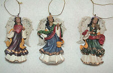 LOVE*PEACE & JOY-SET of 3 HOLIDAY ANGEL ORNAMENTS-PRE OWNED