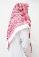 Large Arab Scarf, Shemagh Keffiyeh Islamic Headscarf Red