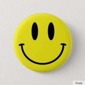 Smiley Face - Anti Mask - Lockdown - protest - 58mm Badge