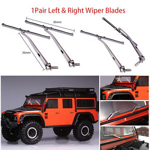 Left & Right Windshield Wiper Blades For 1/10 Traxxas TRX4 Land Rover Defender