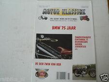MOTOR KLASSIEK 1998-02 BMW 75 YEARS POSTER R32,R96S,R68,R11,RENNSPORT,BSA TWIN