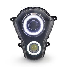 KT LED Halo Angel Demon Eyes Headlight Assembly For KTM Duke 200 2012-2017 White