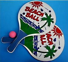2 RAQUETTE DE PLAGE BEACH BALL 33 X 18.5 CM + 1 BALLE