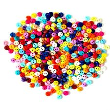 600Pcs/lot 6mm Round Resin Mini Buttons Sewing Scrapbooking Garment DIY Apparel