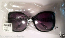 NEW - GUESS 7237 BLK-35 Black Butterfly Sunglasses Animal Print *Free Shipping