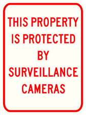 3M REFLECTIVE SURVEILLANCE CAMERAS SIGN - CCTV SECURITY HEAVY DUTY REAL 18 X 24