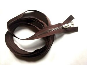 YKK No 10 Open Ended Molded Tooth Zip Brown Double Zipper 330cm In Length