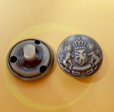 15 Metal Brass Top Shirt Lion Military Patriotic Sew On Button 15mm 24L G259
