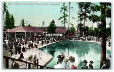Early 1900s Scene in Natatorium Park, Spokane, Washington Postcard