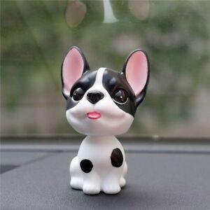 Car French Bulldog Shake Head Toy Dolls Decoration Dashboard Nodding Dog Figure