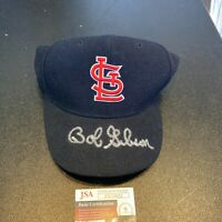 Bob Gibson Signed Autographed St. Louis Cardinals Game Model Baseball Hat JSA
