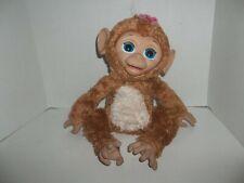 2012 hasbro furreal friends giggly interactive girl brown monkey chimp plush