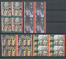 Nederland 1232 - 1235 postfris in blokken van vier