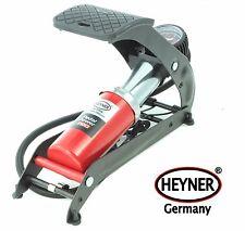 Powerful HEYNER foot air pump gauge 7BAR 100PSI car bike tyre inflator