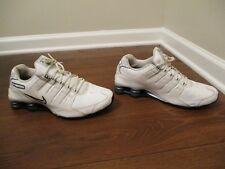 Used Worn Size 11.5 Nike Shox NZ Shoes White, Black, Cool Grey