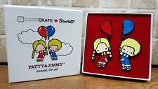 Lootcrate Sanrio Patty & Jimmy Enamel Pin Set - Exclusive gift boxed Love is