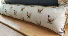 Pheasants Fabric Draught Excluder Cover Piped & Zipped Autumn Decor