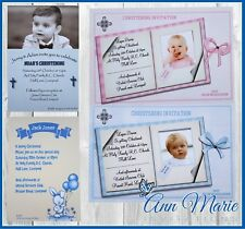 PERSONALISED CHRISTENING BAPTISM INVITATIONS CARD BABY CHRISTENING INVITE CARDS