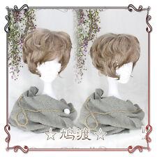Japanese Gothic Lolita Harajuku Men  Vintage Gradient Short Cosplay Daily Wig