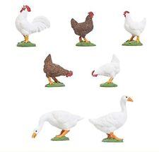POLA 331896 Hühner und 3 Gänse