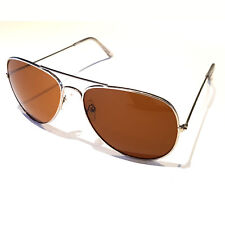Sonnenbrille Pilotenbrille Fliegerbrille Brille Silber Braun Stylisch Cool
